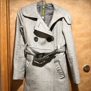 Soia & kyo gray trench coat size m